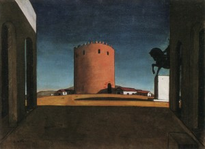 La Tour rouge, Chirico, 1913 (source: http://en.wikipedia.org/wiki/Chirico)