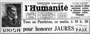 Une de l'Humanité, 3O juillet 1939