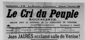 Le Cri du Peuple, 7 novembre 1909
