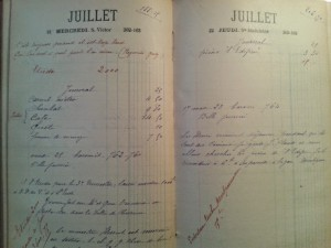 Agenda de Marie, 1926, photo DR
